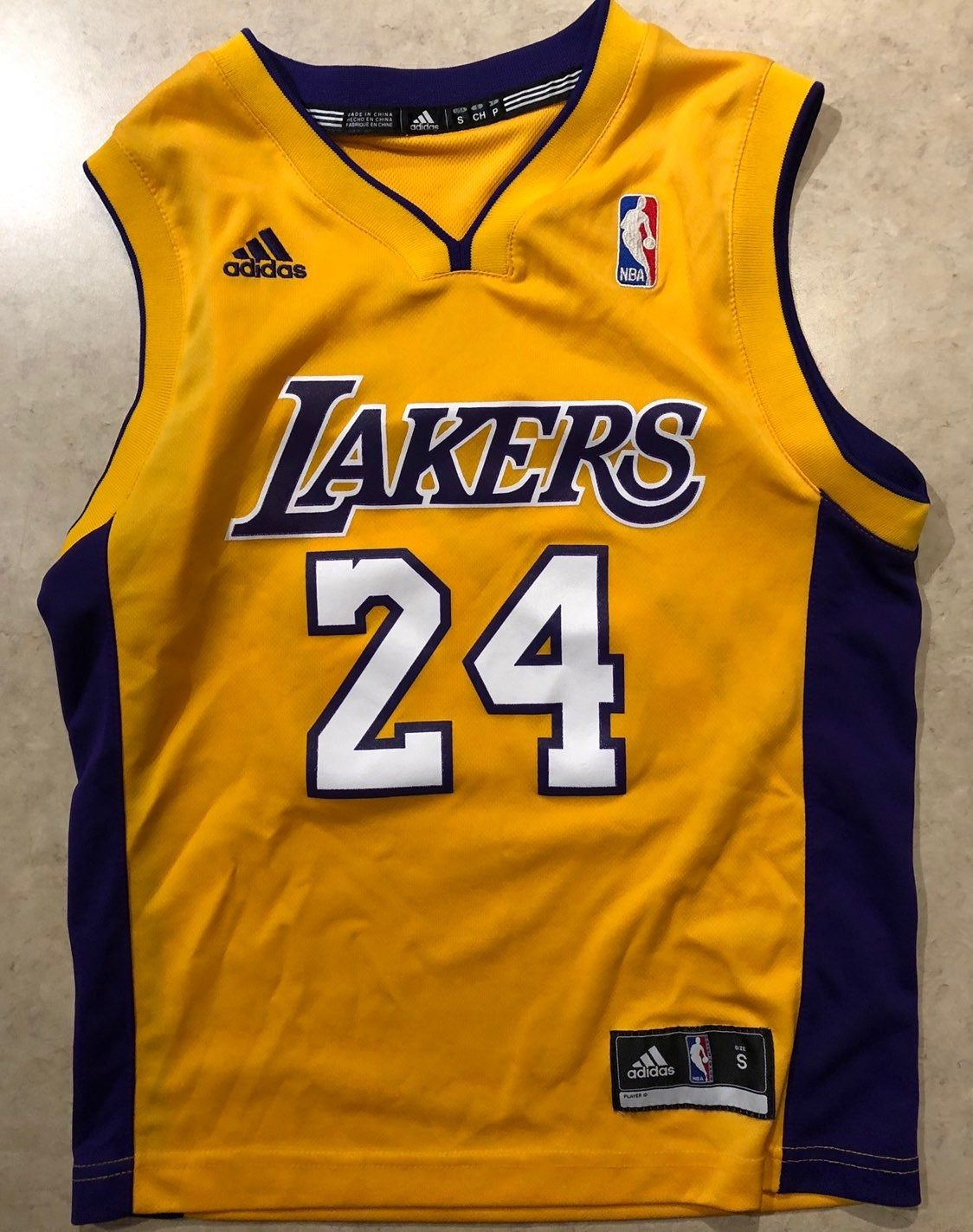 Adidas Screenprinted Boys Small La Lakers Kobe Bryant Boys Small Jersey Good Condition Kobe Bryant Lakers Kobe Lakers Kobe Bryant