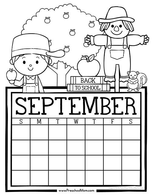 It is a graphic of Dynamic Printable Preschool Calendars