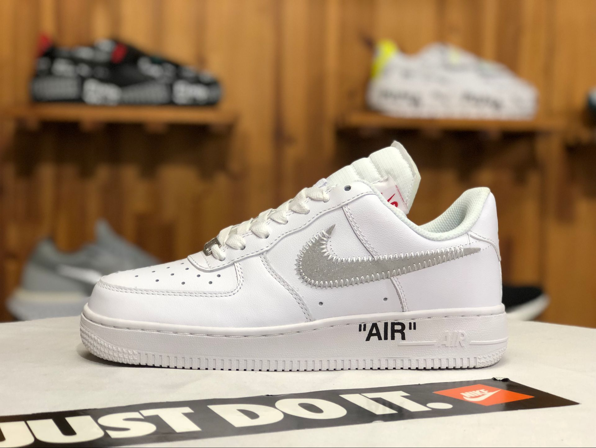679ce77e349 Buy OFF-WHITE x Nike Air Force 1 Low White Black-Varsity Red Silver ...