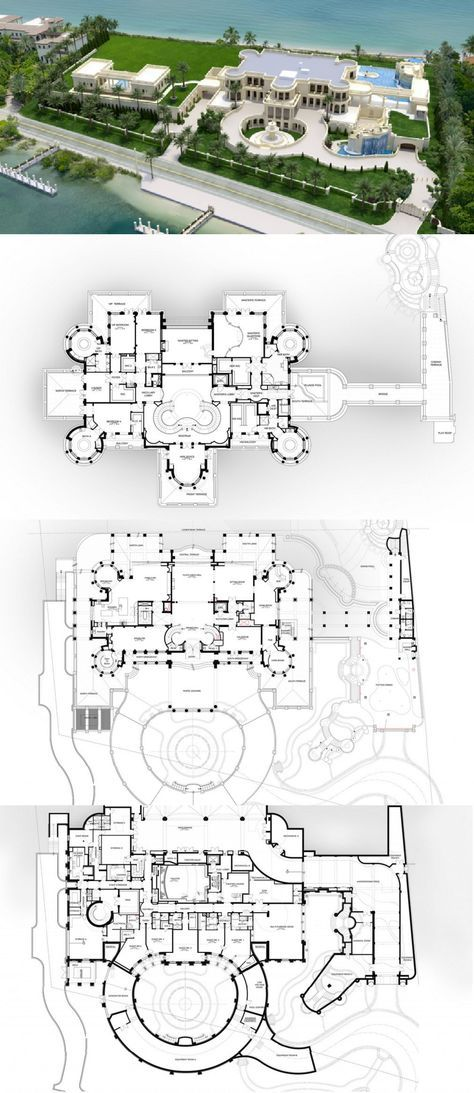 Floor Plans To The 60,000 Square Foot Le Palais Royal Oceanfront ...