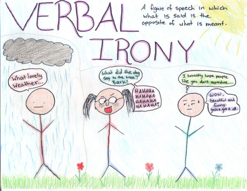 This Image Shows The Meaning Of Verbal Irony And Provides Examples