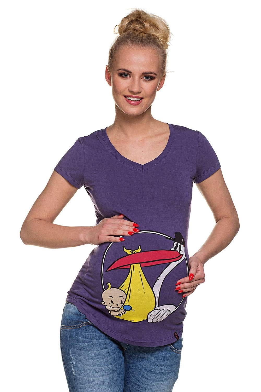 8846284ad682 Maglia premaman viola. Abbigliamento Premaman MY TUMMY ®©TM Magliette  Premaman T-shirt