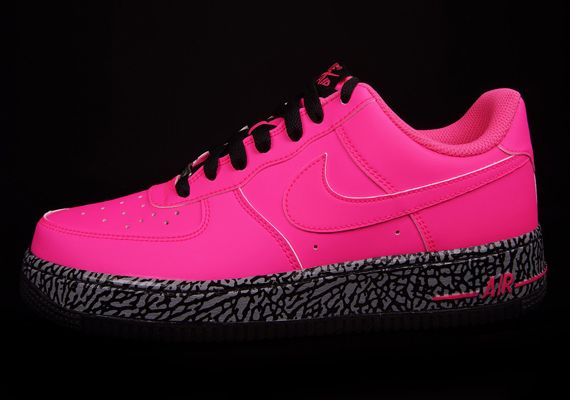 Nike Air Force 1 Low Gs Hyper Punch Hyper Pink Black