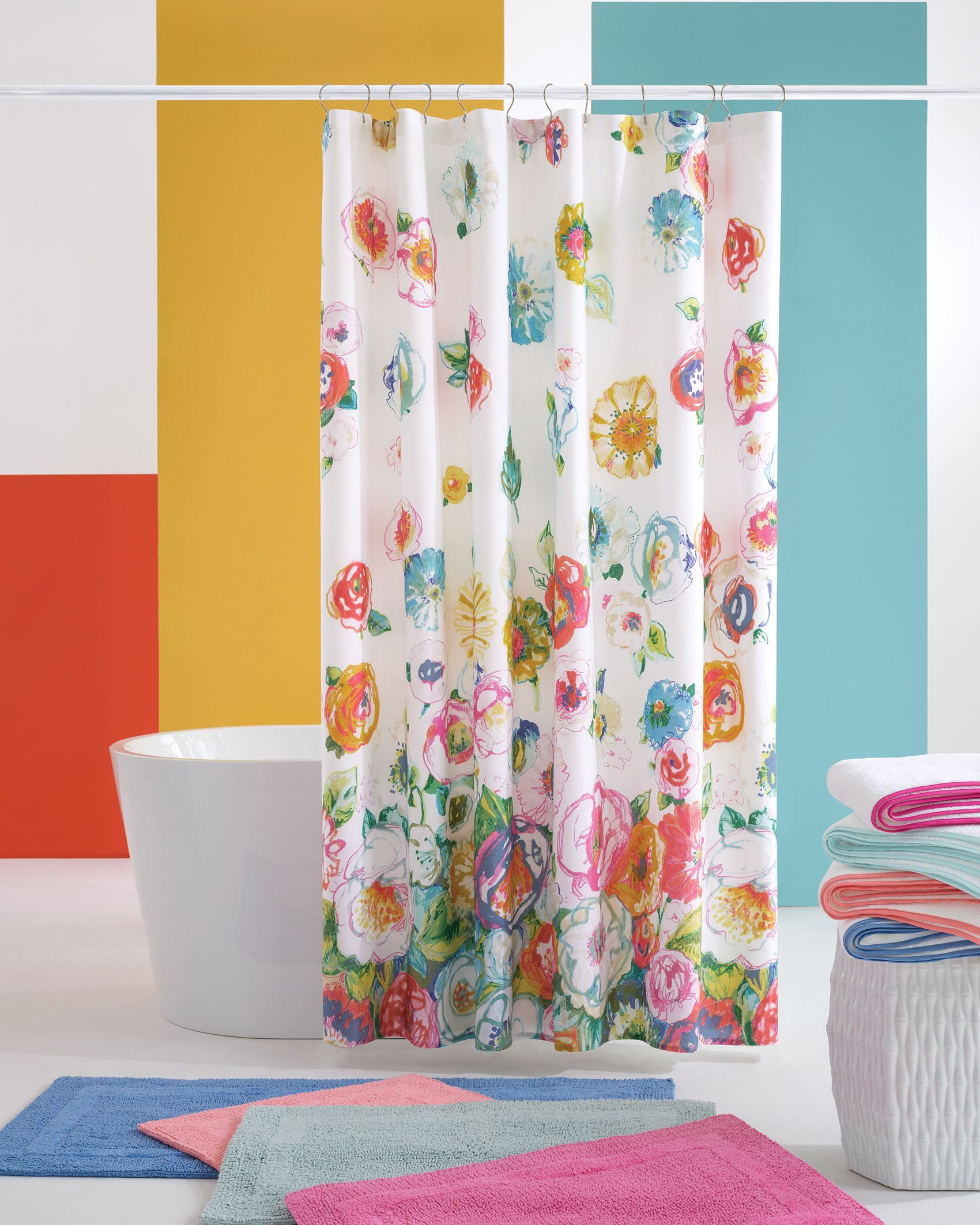 Flower Shower Shower Curtain Pine Cone Hill Floral Shower