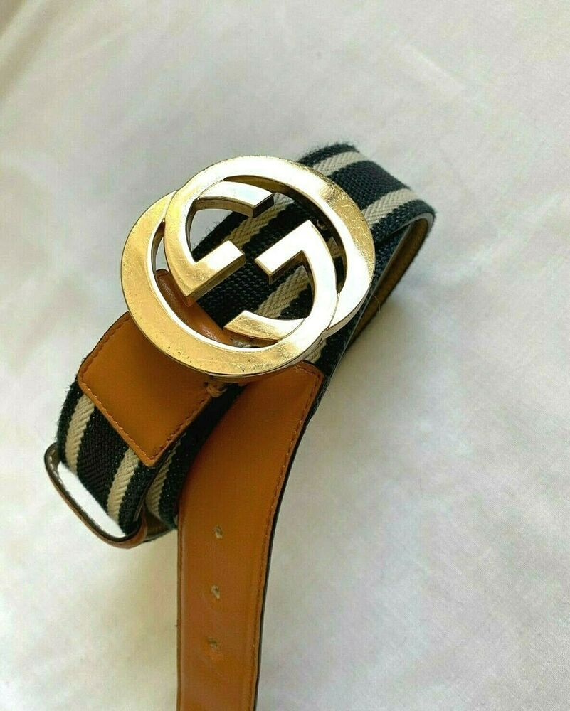 Authentic gucci interlocking gg web belt gucci belt with