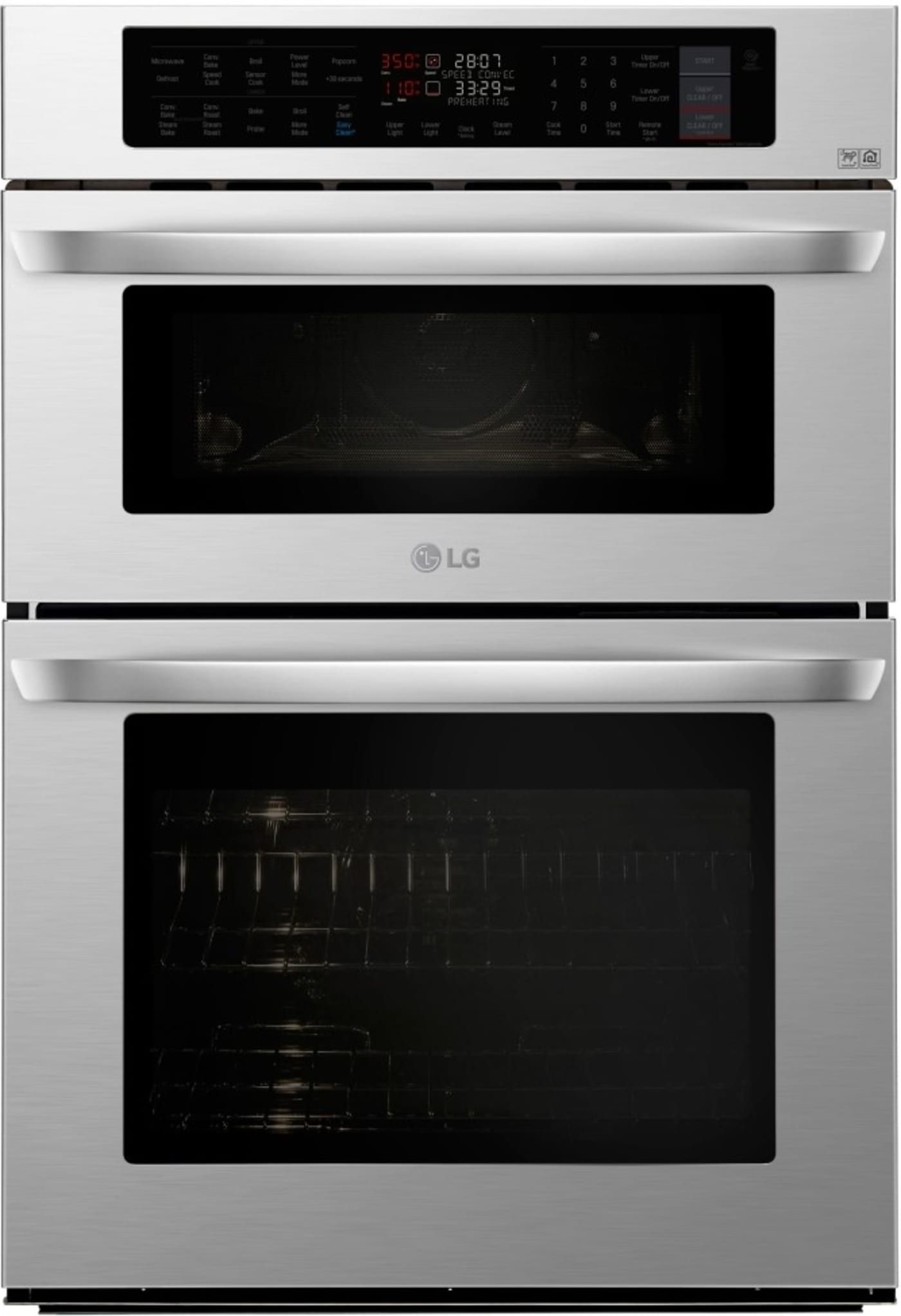 Lwc3063st By Lg Double Wall Ovens Goedekers Com Wall Oven Wall Oven Microwave Combo Combination Wall Oven