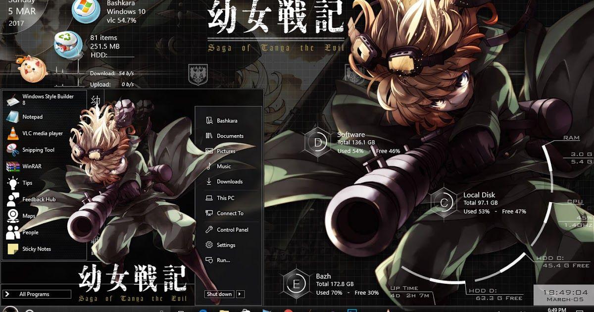 Theme Youjo Senki For Windwos 10 Version 1607 Youjo Senki Anime Themes Theme Anime wallpaper themes for windows 7