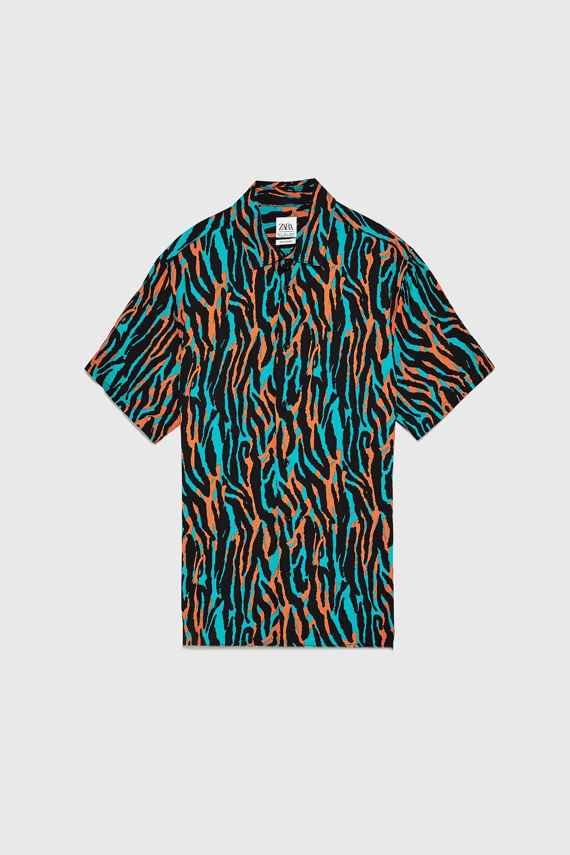 Image 8 Of Neon Animal Print Shirt From Zara Camisas Estampadas Camisas Ropa [ 2880 x 1920 Pixel ]