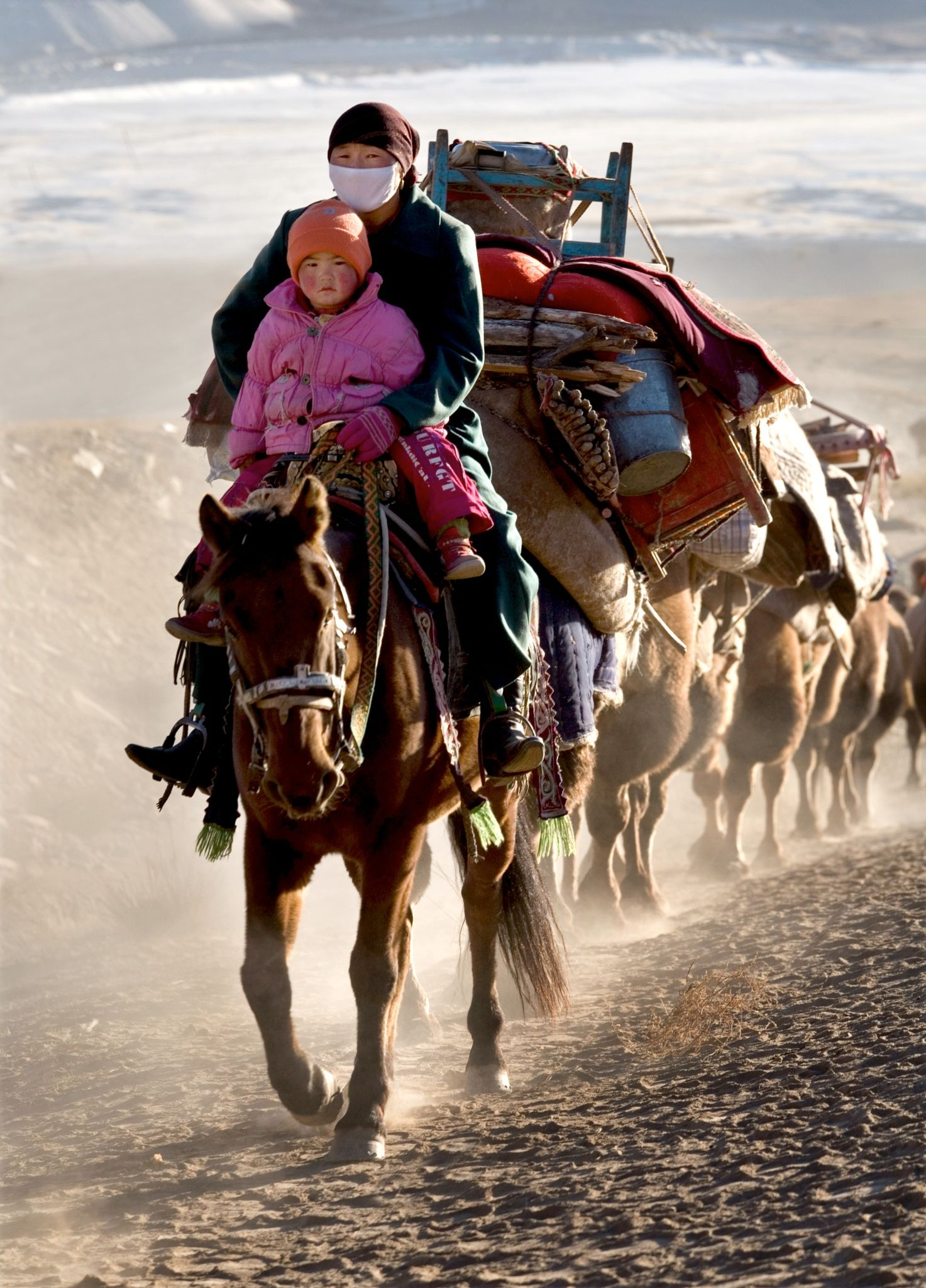Migration Before the winter, nomads migrate south with