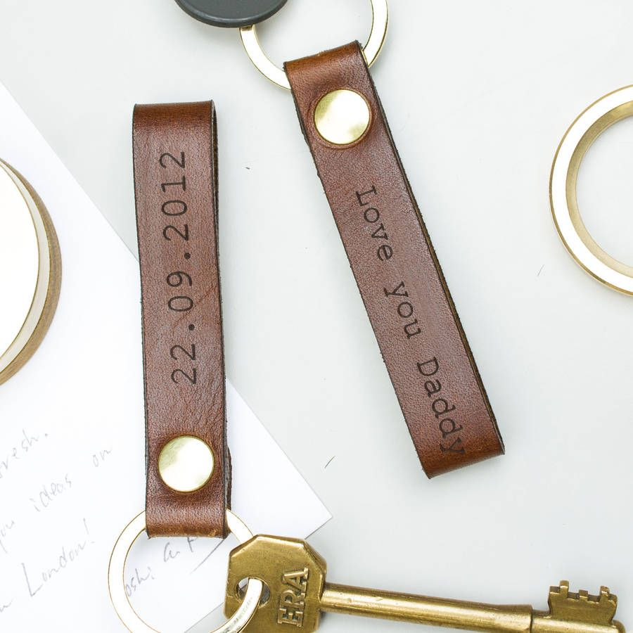 Personalised Leather Loop Keyring Leather And Gift