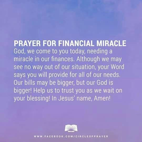 FINANCIAL MIRACLES! | Girl | Miracle prayer, Daily prayer