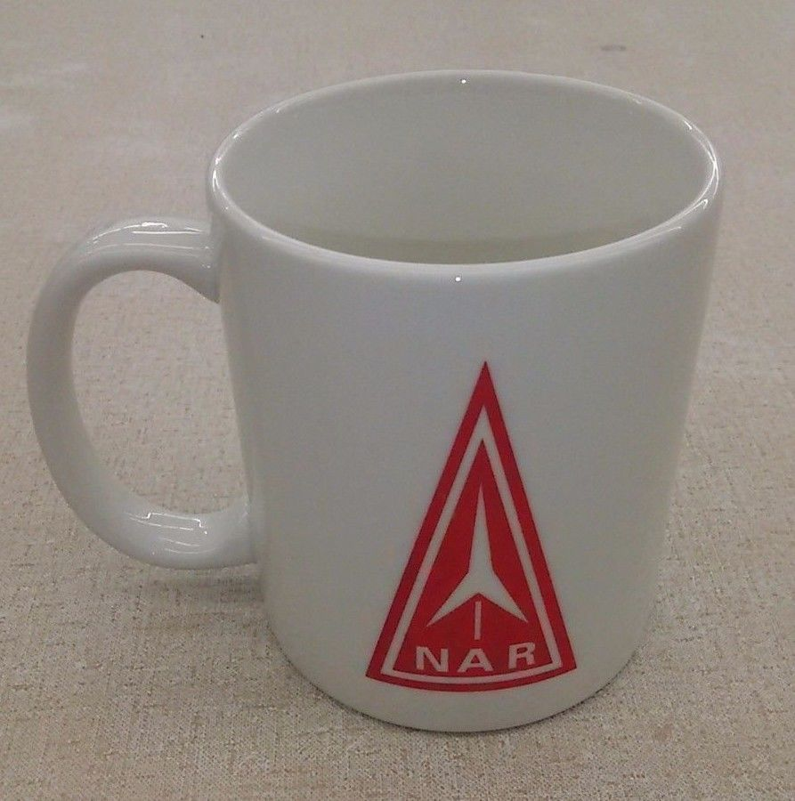 National Association Of Rocketry Coffee Mug VTG Logo NAR