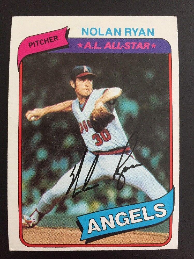 1980 topps nolan ryan baseball card 580 california