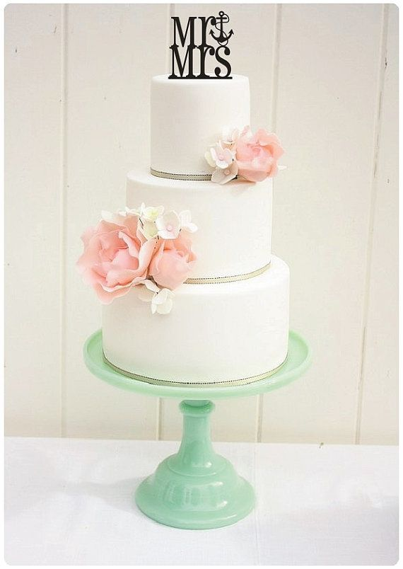 Hey, I found this really awesome Etsy listing at http://www.etsy.com/listing/170075402/wedding-cake-topper-mr-and-mrs-anchor