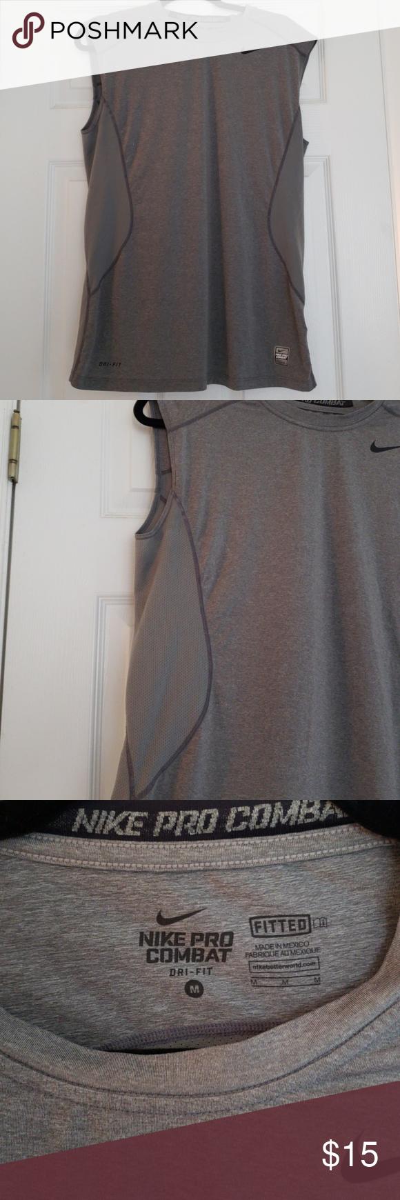 Nike Pro Combat dry fit cut off.