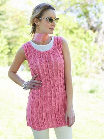 739a000b192 Knit Tank Tunic   Yarn   Free Knitting Patterns   Crochet Patterns    Yarnspirations