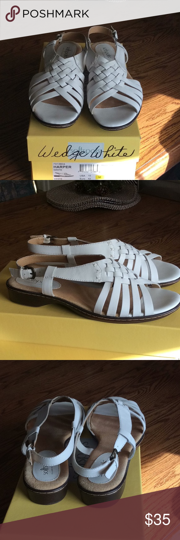 7e2fff8bc4 Never worn sandals White sandals Soft spots softspots Shoes Sandals