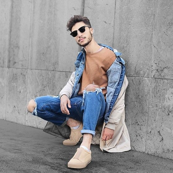 Get this look: http://lb.nu/look/8566925  More looks by Ayoub Mani: http://lb.nu/user/953923-Ayoub-M  Items in this look:  Thestateofwow Sunglasses, Bershka Denim Jacket, Zara Bomber Jacket, Cheap Monday Jeana, Asos Shoes