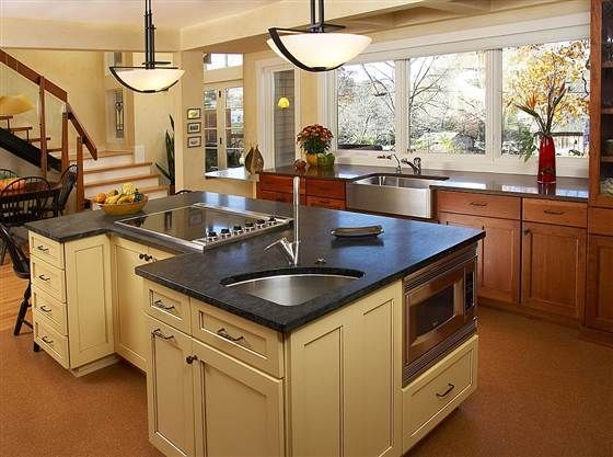 8 Kitchen Counter Options To Make You Forget Granite Kitchen Island With Sink Kitchen Island Design Kitchen Design