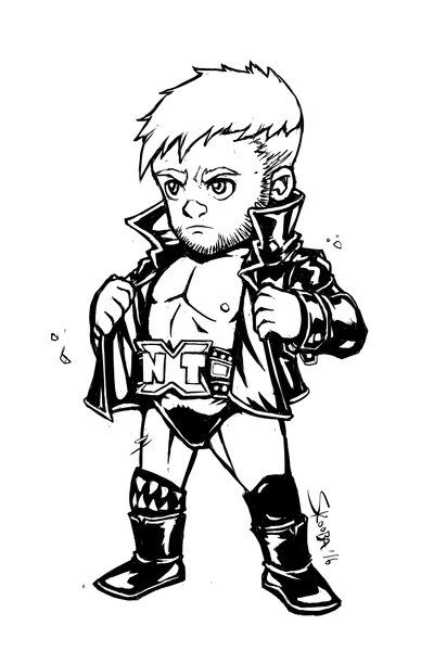 Finn Balor Chibi By Darthskooba Deviantart Com On Deviantart