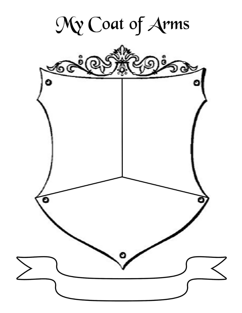 Blank Coat Of Arms Template Png Free Download Fourjay Pertaining To Blank Shield Template Printable Family Crest Template Coat Of Arms Shield Template