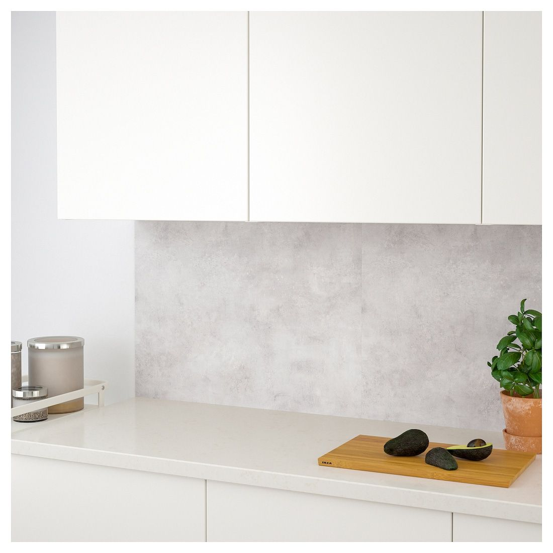 Lysekil Wall Panel Double Sided White Light Gray Concrete Effect 48x19 122x48 Cm Ikea In 2021 White Paneling Wall Paneling Lysekil