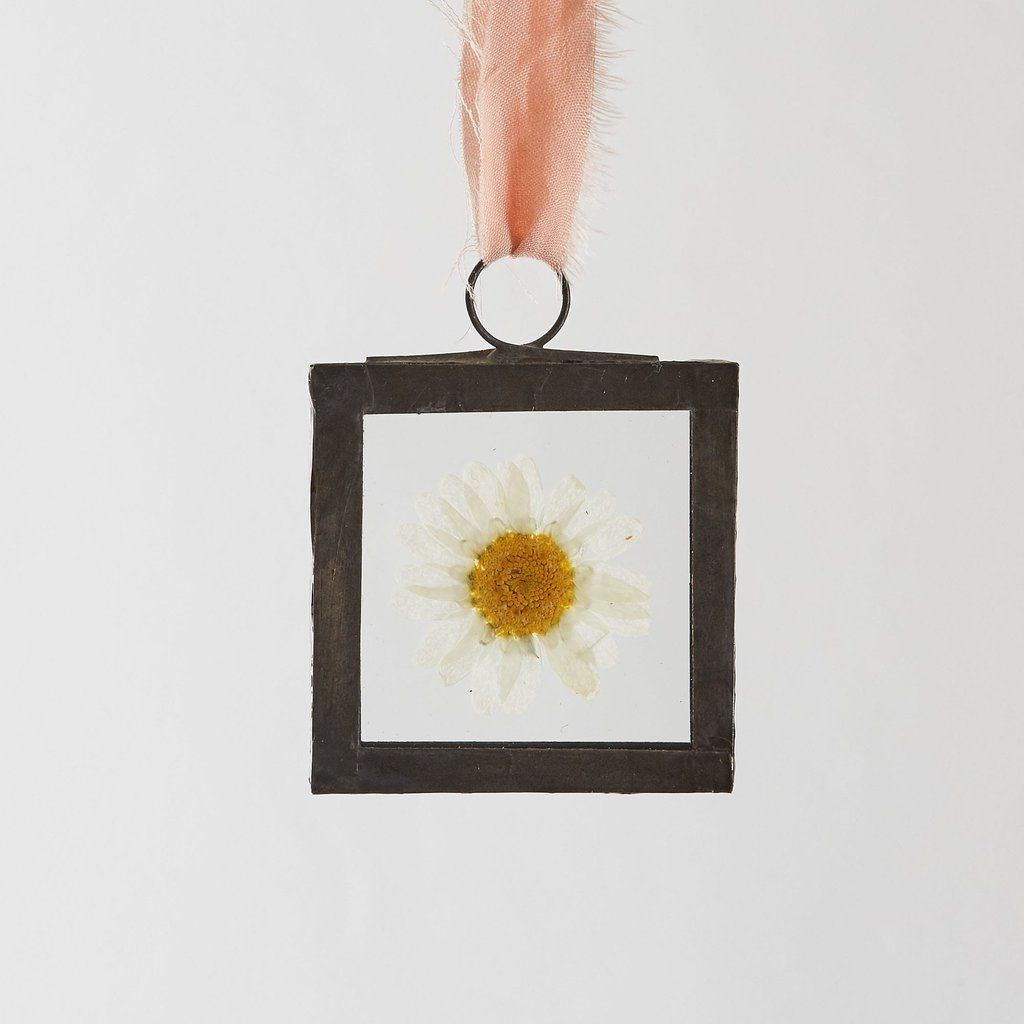 Small Square Pressed Flower Glass Frame by Botanique Workshop ...
