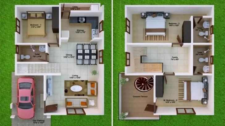 Gorgeous 600 Sq Ft House Plans 2 Bedroom Indian Style Youtube 600 Sq Ft House Plans 2 Bedroom Pictur Duplex House Design North Facing House 20x30 House Plans
