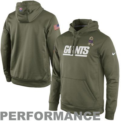 2bb534a73 Nike New York Giants Salute to Service KO Pullover Performance Hoodie -  Olive  SalutetoService