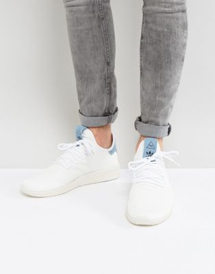 79a60be5c adidas Originals x Pharrell Williams Tennis HU Trainers In White BY8718 at  asos.com