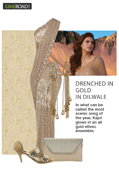 0a5a80321e Get Kajol s all-gold look from the song  Gerua  in Dilwale ...
