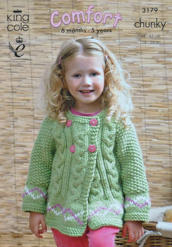 af4783dbf804 Girls Knitting Pattern K3179 Children s Long Sleeve Cable