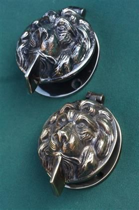 Br And Nickel Lock Cover Door Knocker Lions Head This One Does Two Jobs