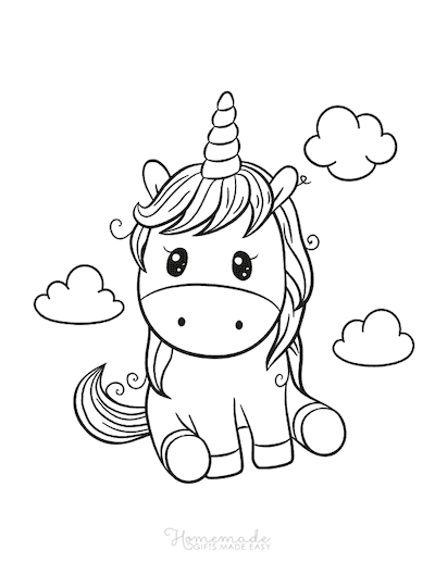 Unicorn Outline Coloring Pages Photos