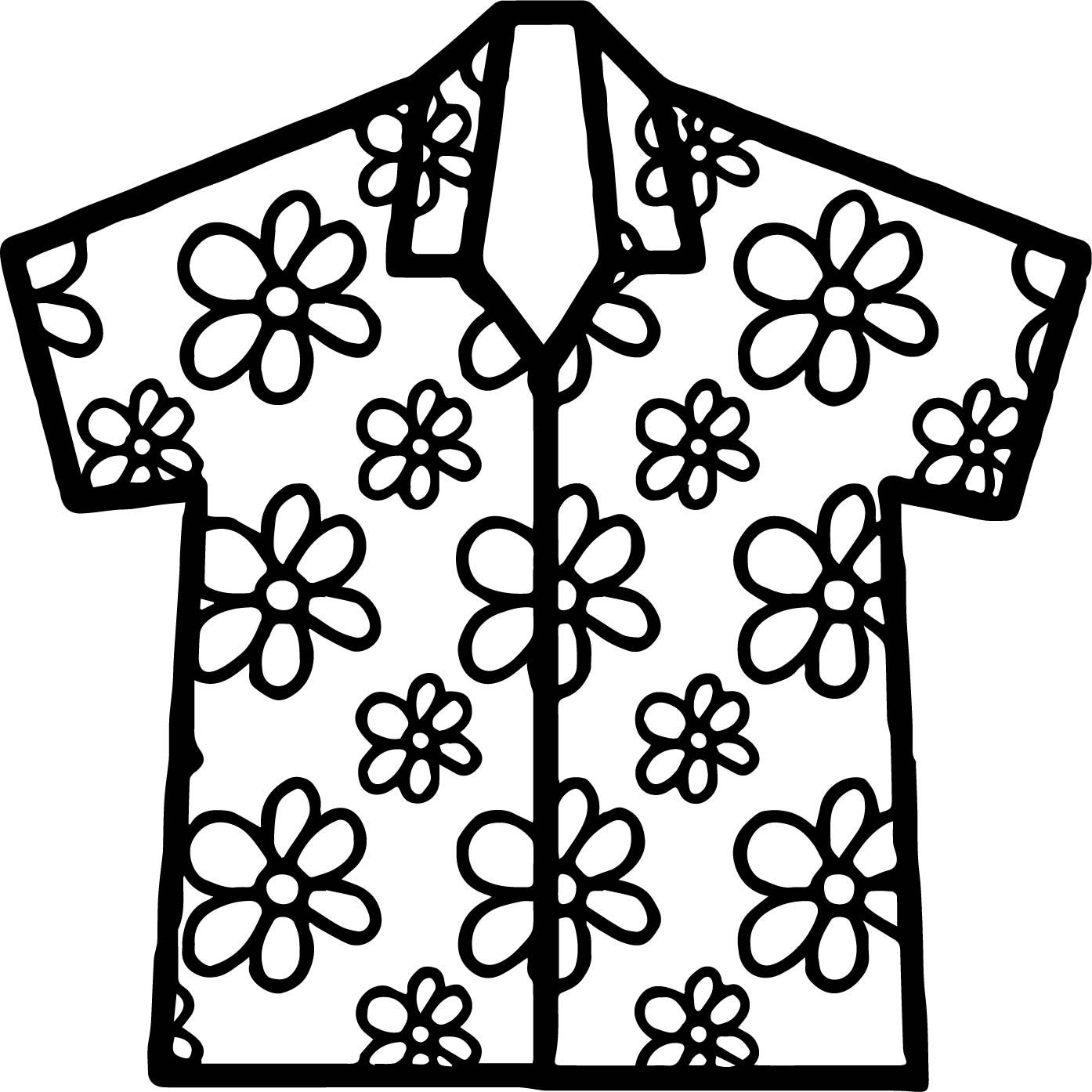 Cool Hawaiian Shirt Coloring Page Hawaii Shirt Hawaiian Shirt