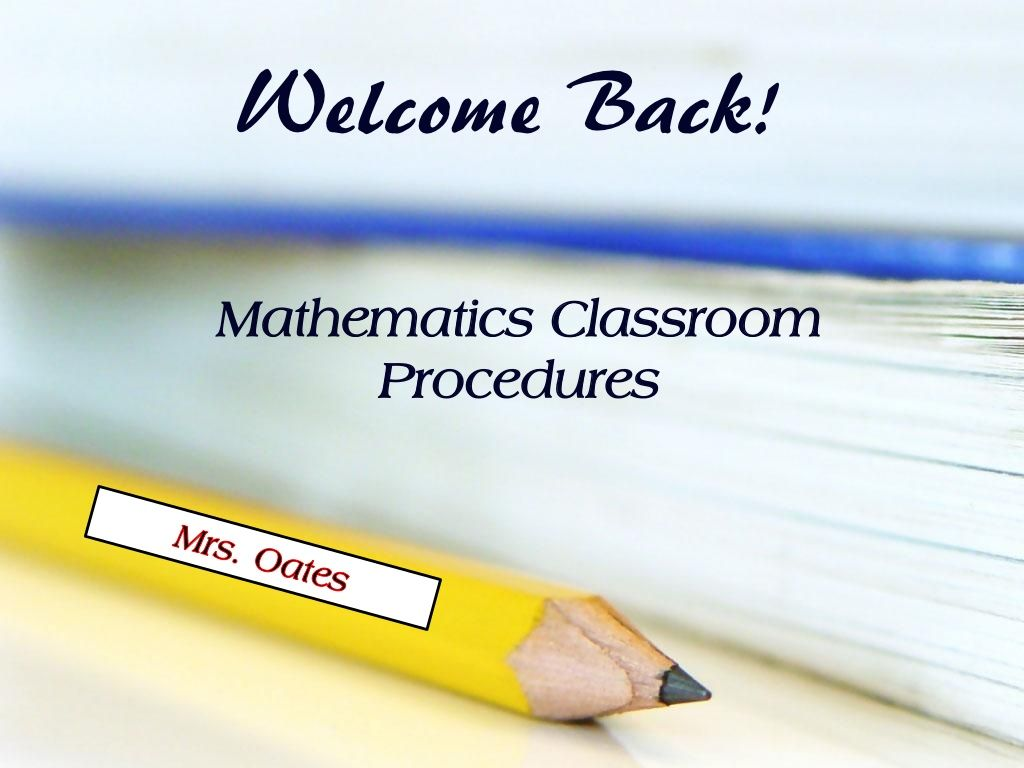 Classroom Procedures Powerpoint By Moates Via