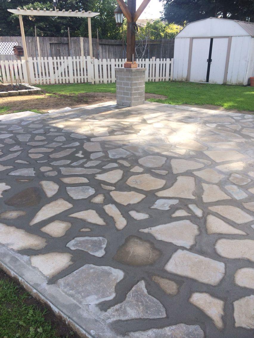 Cement Patio Designs Stained Concrete Floor Designs: Using Recycled Concrete To Make A Concrete Slab