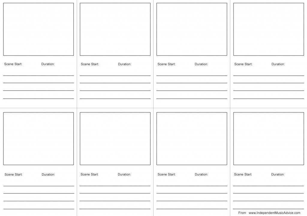 music-video-storyboard-template-from-wwwindependentmusicadvice - video storyboard template