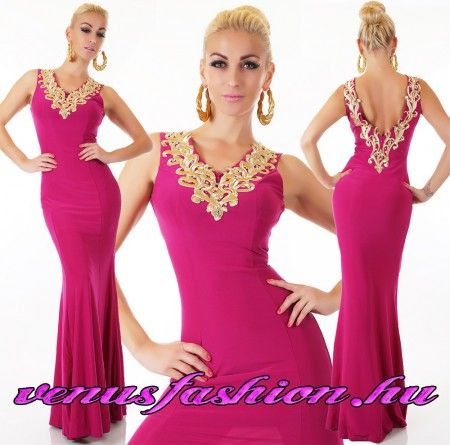 5c48da39d1 Gyönyörű pink arany hosszú női alkalmi elegáns ruha | Női ruha ...