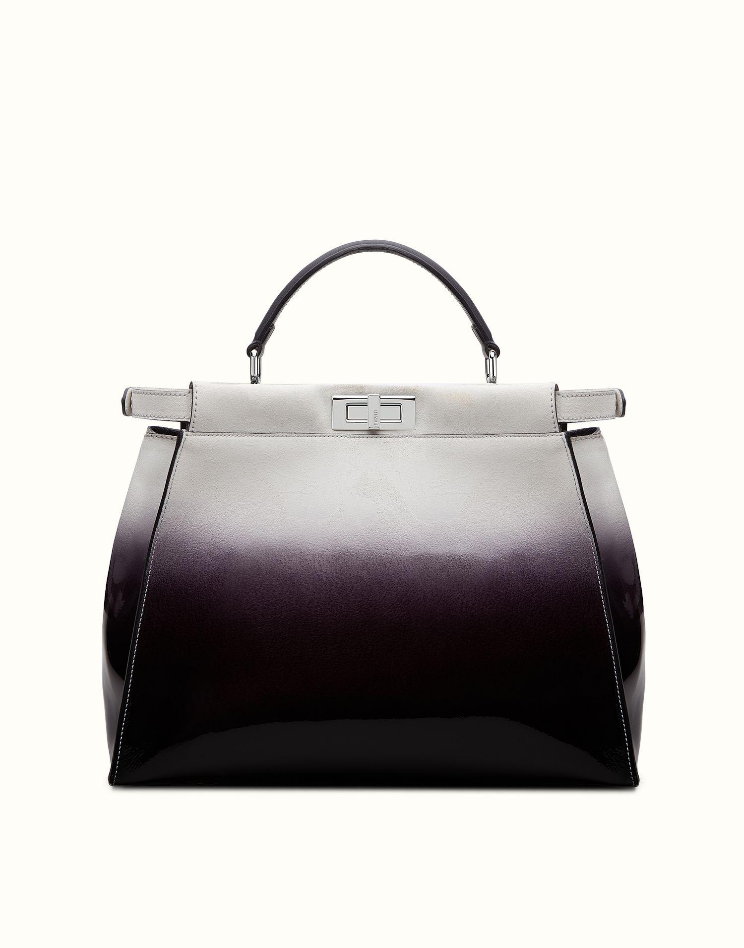 FENDI   PEEKABOO GROSS Handtasche aus Lackleder