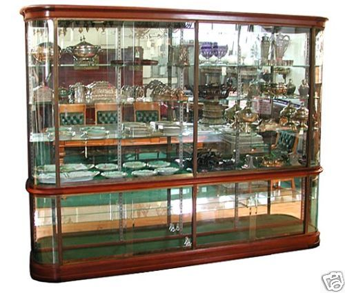 395 Antique French Mahogany Glass Display Cabinet . eBay | On ...