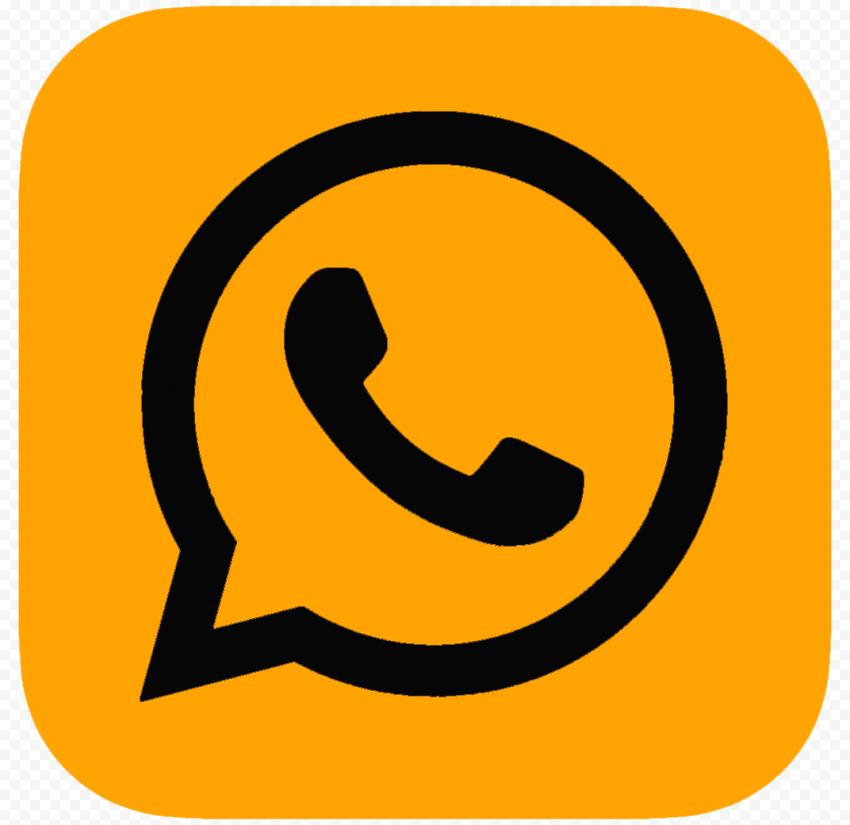 Hd Orange Black Whatsapp Wa Square Logo Icon Png Square Logo Logo Icons Orange Black