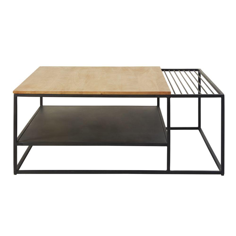 Table Basse Double Plateau En Manguier Massif Et Metal Wayampi Maison Du Monde Table Basse Table Basse Double Plateau Table Maison Du Monde