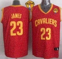 cavaliers 23 lebron james red crazy light the finals patch stitched nba jersey