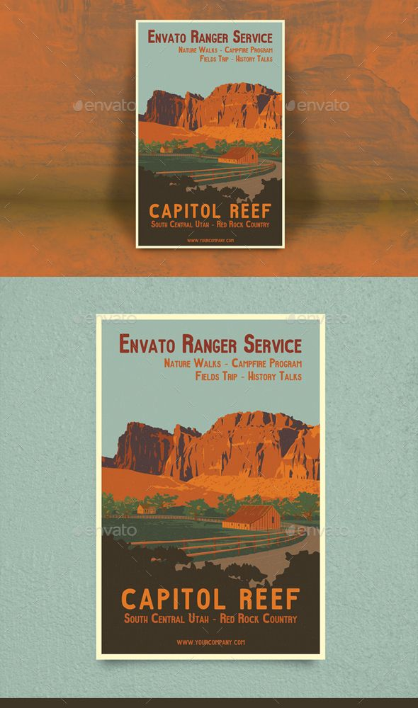 Capitol Reef Travel Poster Or Flyer