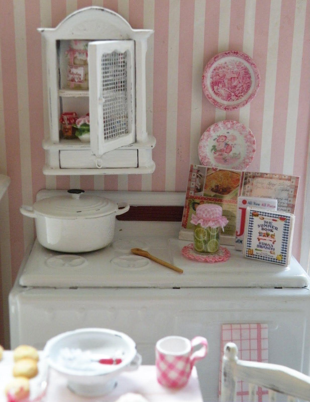 I love pink :)   I love cottage style decorating :)     I love kitchens :)   I love mini baking :)     I love a little vintage :)     I love...