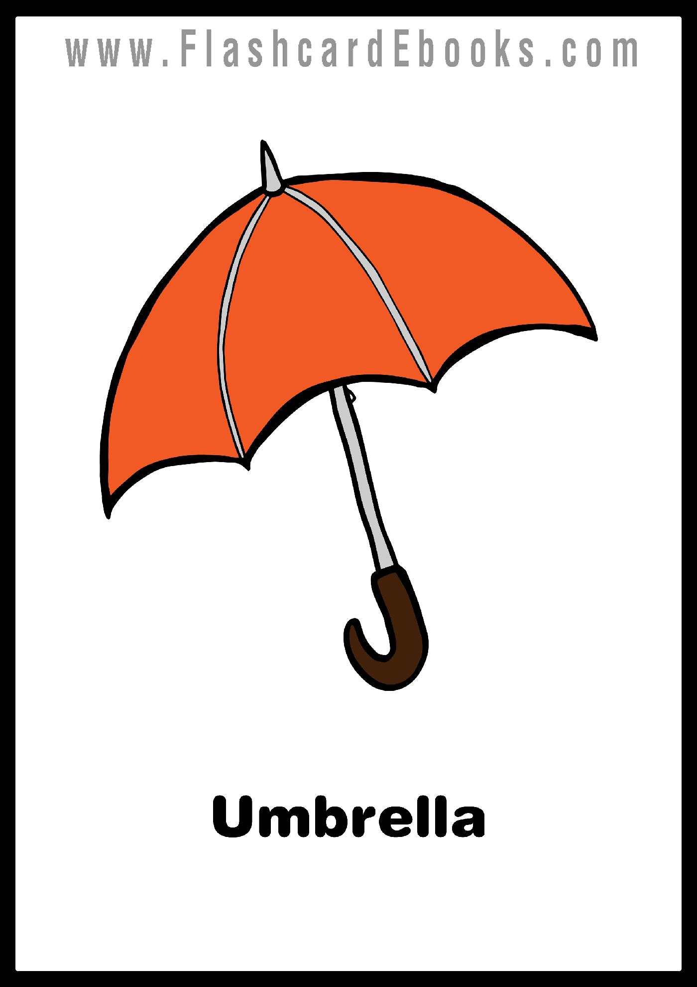 English Flashcard Kindle Umbrella