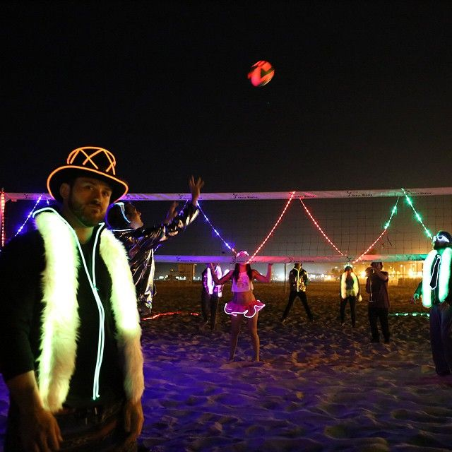 Light Up Night Volleyball Edm Festival Glow In The Dark Night Volleyball