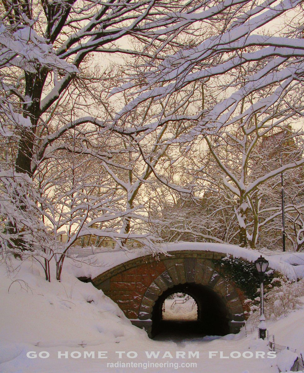 Central Park, NYC, beautiful winter radiantengineering