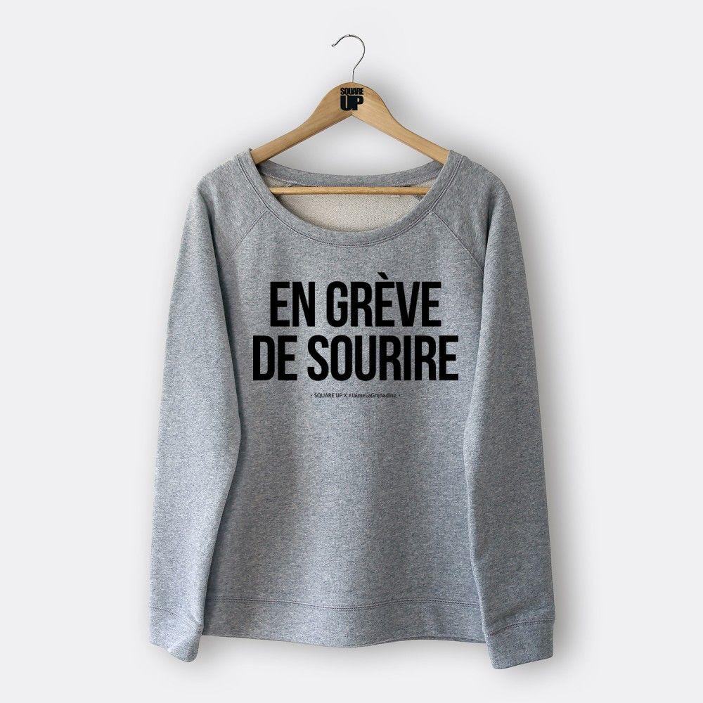 Exceptionnel Sweat femme - En grève de sourire - Square Up #outfit #ootd #smile  VP53